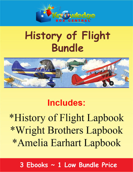 History of Flight Lapbook BUNDLE