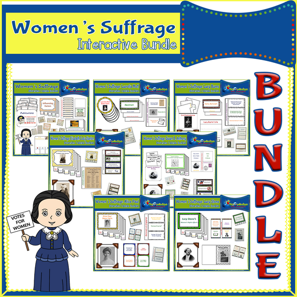 Women's Suffrage Interactive Foldable Booklets BUNDLE