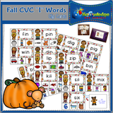 Fall CVC Words Clip Cards