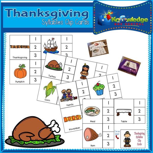 Syllables Clip Cards