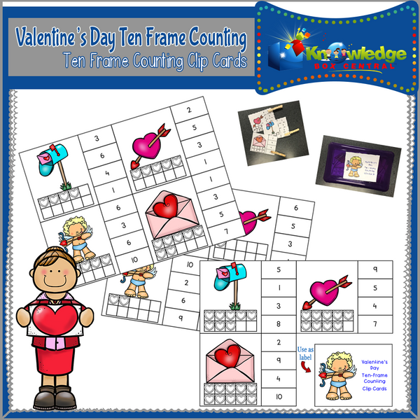 Ten Frame Counting Clip Cards