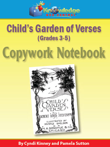 Child's Garden of Verses Copywork Notebook 3-5th