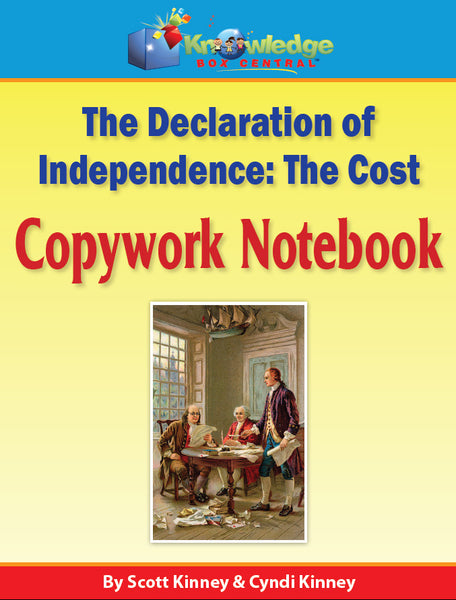 Declaration of Independence Copywork Notebook