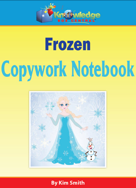 FROZEN Copywork Notebook