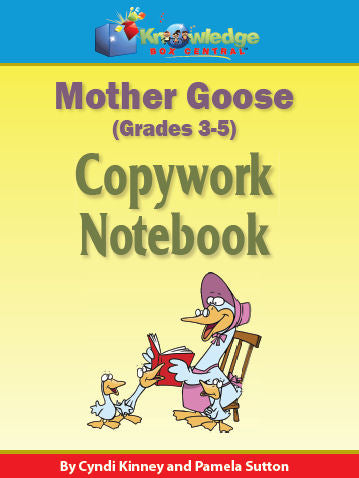 Mother Goose Copywork Notebook 3-5th
