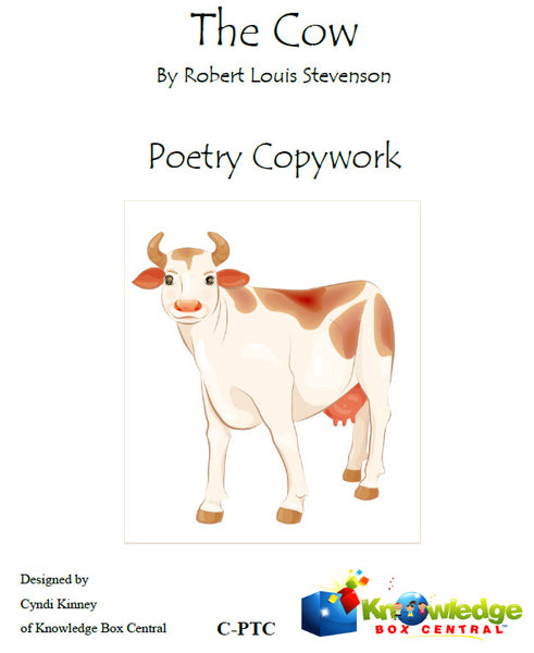 The Cow Poetry Copywork