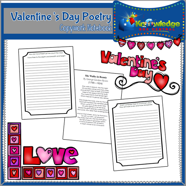 Valentine's Day Poetry Copywork