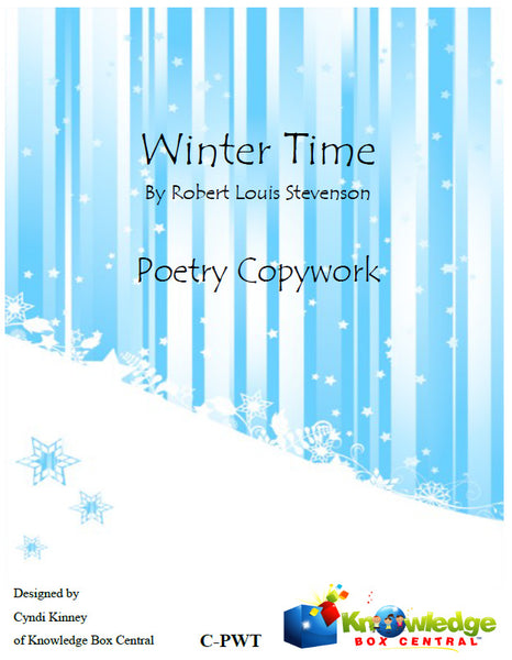 Winter Time Poetry Copywork