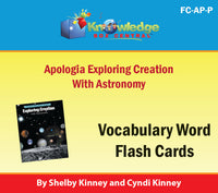 Apologia Exploring Creation with Astronomy Lapbook Package (Lessons 1-14)