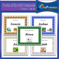Books of the Old Testament Flash Cards