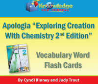 Apologia Exploring Creation with Chemistry 2nd Edition