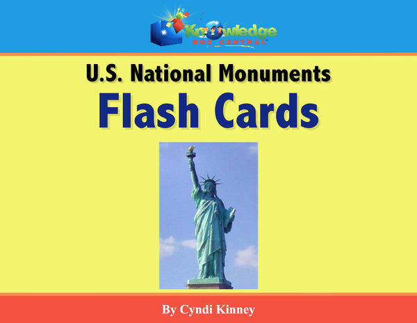 US National Monuments Flash Cards