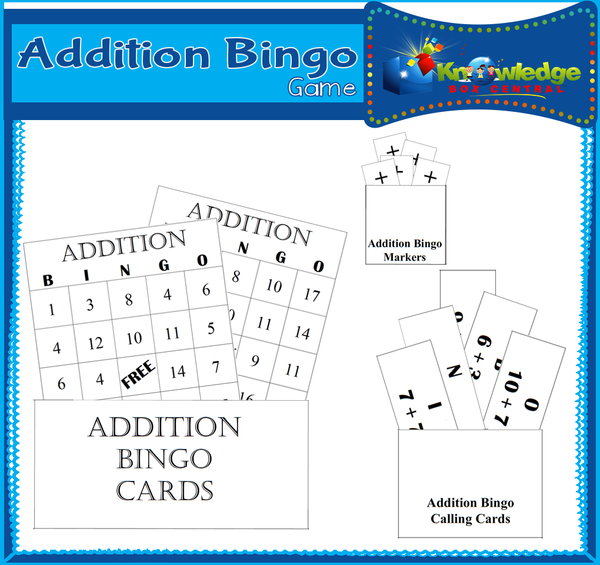 Addition Bingo Game
