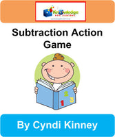 Subtraction Action Game - Games Notebook