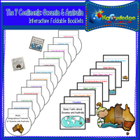 The 7 Continents Interactive Foldable Booklets