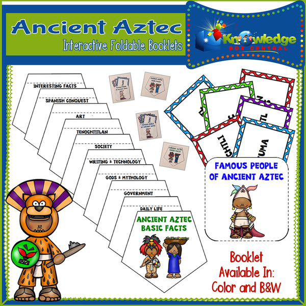 Ancient Aztec Interactive Foldable Booklets
