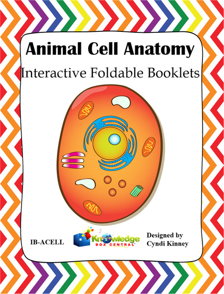 Animal Cell Anatomy Interactive Foldable Booklet