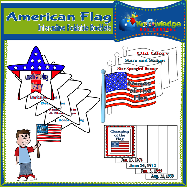 American Flag Interactive Foldable Booklets
