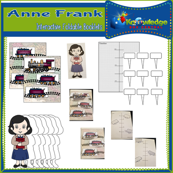 Anne Frank Interactive Foldable Booklets