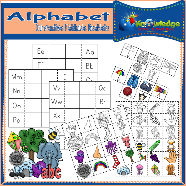 Alphabet Interactive Foldable Booklets