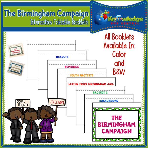 Birmingham Campaign Interactive Foldable Booklets
