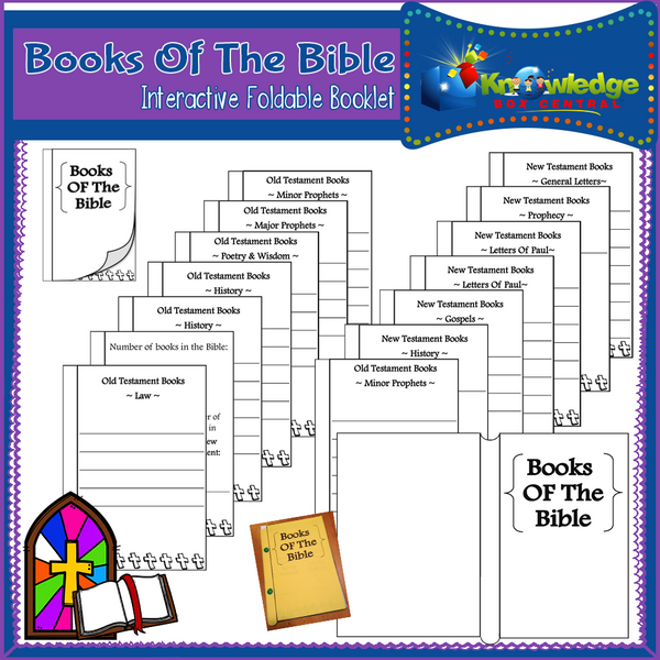 Books of the Bible Interactive Foldable Booklets