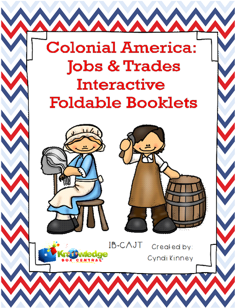 Colonial America: Jobs & Trades Interactive Foldable Booklets