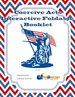 Coercive Acts Interactive Foldable Booklets