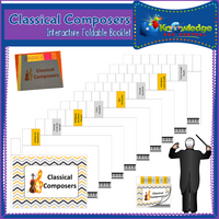 Classical Composers Interactive Foldable Booklets
