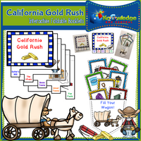 California Gold Rush Interactive Foldable Booklets