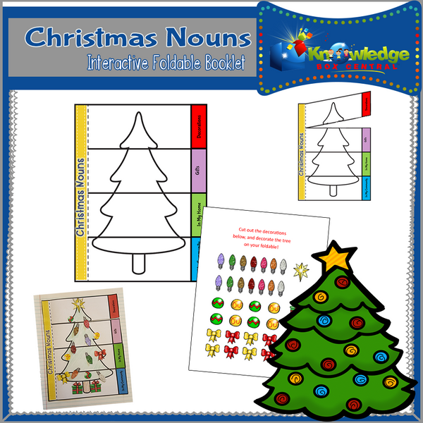 Christmas Nouns Interactive Foldable Booklets