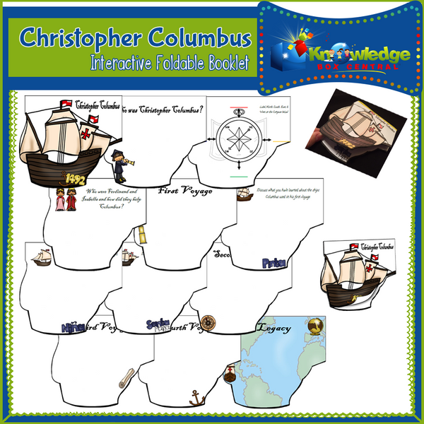 Christopher Columbus Interactive Foldable Booklets