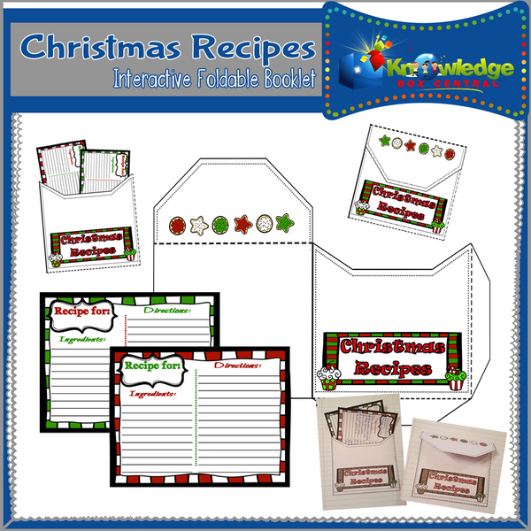 Christmas Recipes Interactive Foldable Booklets