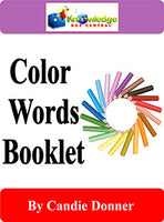 Color Words Interactive Foldable Booklets