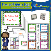 Doctor Patricia Bath Interactive Foldable Booklets