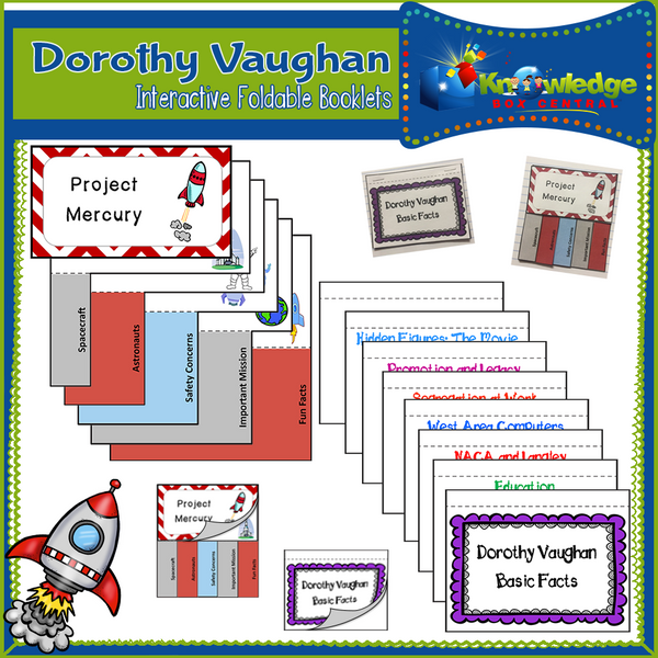 Dorothy Vaughan Interactive Foldable Booklets