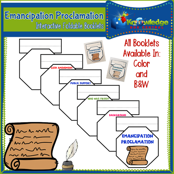 Emancipation Proclamation Interactive Foldable Booklets