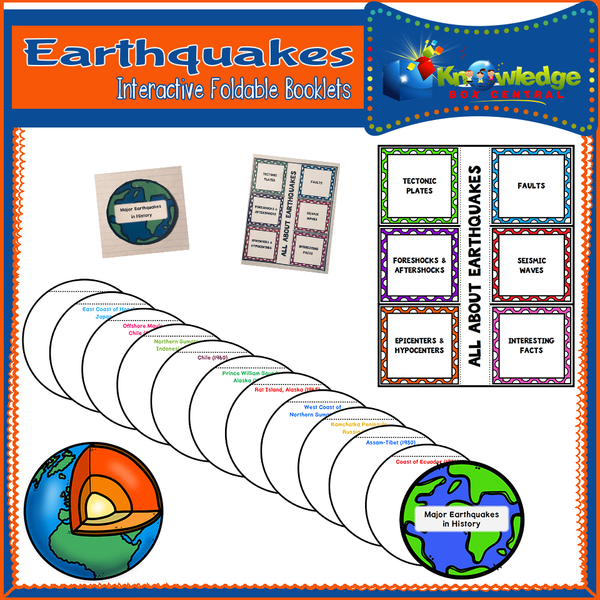 Earthquakes Interactive Foldable Booklets