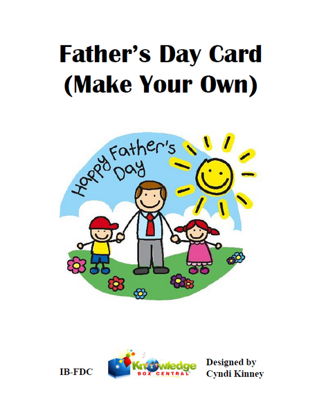 Father's Day cards-Make your own!