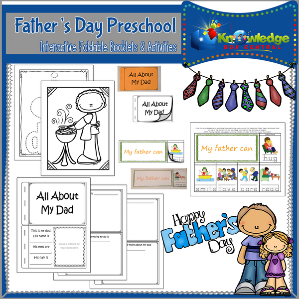 Father's Day Preschool Interactive Activities