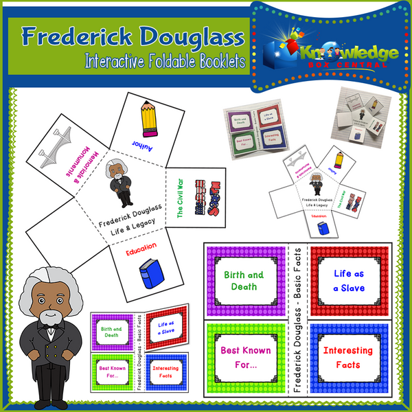 Frederick Douglass Interactive Foldable Booklets
