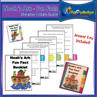 Fun Facts Noah's Ark Interactive Foldable Booklets