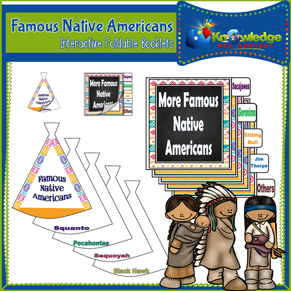 Famous Native Americans Interactive Foldable Booklets