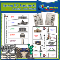 Famous U.S. Landmarks  Interactive Foldable Booklets