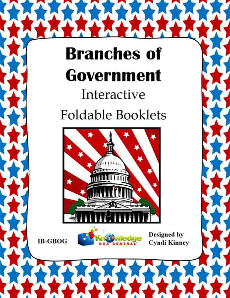 Branches of Government Interactive Foldable Booklets