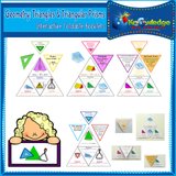 Geometry: Triangles & Triangular Prisms Interactive Foldable Booklets