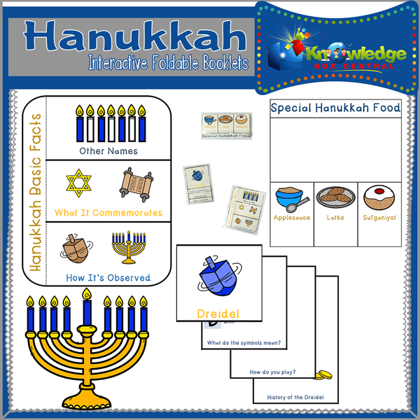 Hanukkah Interactive Foldable Booklets