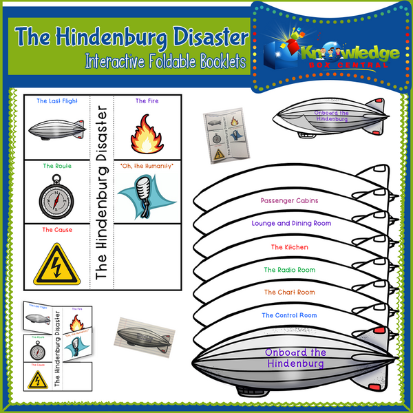 The Hindenburg Disaster Interactive Foldable Booklets