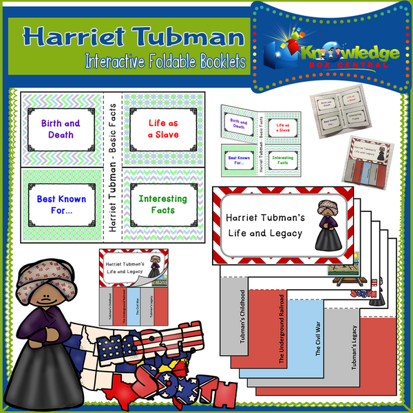 Harriett Tubman Interactive Foldable Booklets