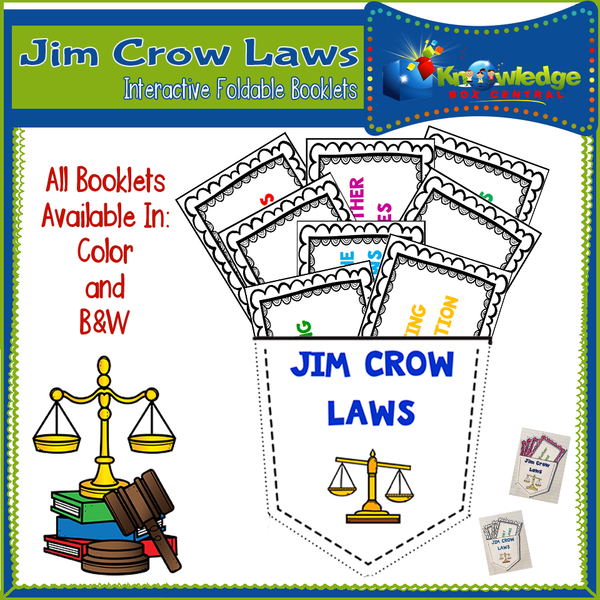 Jim Crow Laws Interactive Foldable Booklets